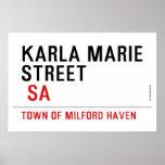 Karla marie STREET   Posters