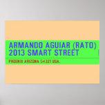 armando aguiar (Rato)  2013 smart street  Posters