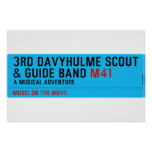 3rd Davyhulme Scout & Guide Band  Posters