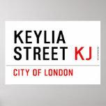 Keylia Street  Posters