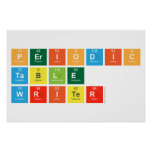 Periodic Table Writer  Posters