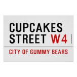 cupcakes Street  Posters