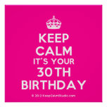 [Crown] keep calm it's your 30th birthday  Posters