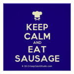 [Chef hat] keep calm and eat sausage  Posters