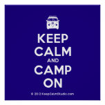 [Campervan] keep calm and camp on  Posters