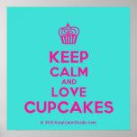 [Cupcake] keep calm and love cupcakes  Posters
