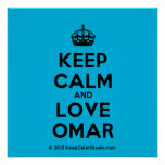 [Crown] keep calm and love omar  Posters