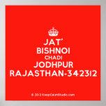 [Crown] jat' bishnoi chadi jodhpur rajasthan-342312  Posters
