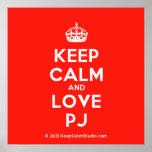 [Crown] keep calm and love pj  Posters