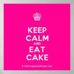 [Cupcake] keep calm and eat cake  Posters