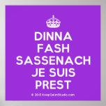 [Crown] dinna fash sassenach je suis prest  Posters
