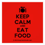 [Cutlery and plate] keep calm and eat food  Posters