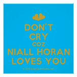 [Two hearts] don't cry coz niall horan loves you  Posters