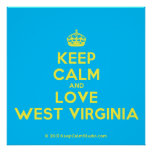 [Crown] keep calm and love west virginia  Posters
