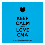 [Love heart] keep calm and love cma  Posters