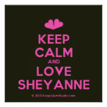 [Two hearts] keep calm and love sheyanne  Posters