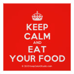 [Crown] keep calm and eat your food  Posters