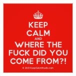[Crown] keep calm and where the fuck did you come from?!  Posters