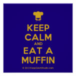 [Chef hat] keep calm and eat a muffin  Posters
