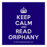 [Crown] keep calm and read oriphany  Posters