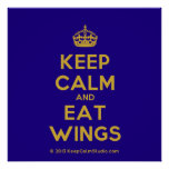 [Crown] keep calm and eat wings  Posters