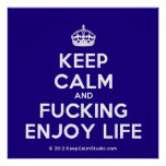 [Crown] keep calm and fucking enjoy life  Posters