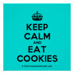 [Crown] keep calm and eat cookies  Posters