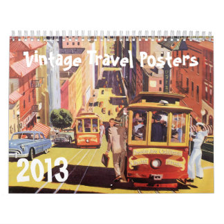 Posters 2013 del viaje internacional del vintage calendarios de pared