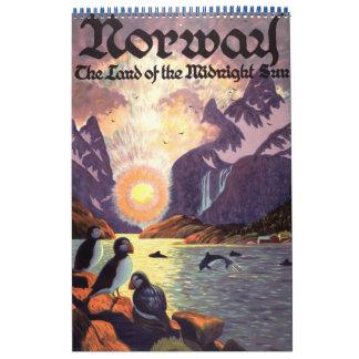 Posters 2013 del viaje internacional del vintage calendario