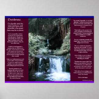 Posters 7 de las cascadas de los DESIDERÁTUMS