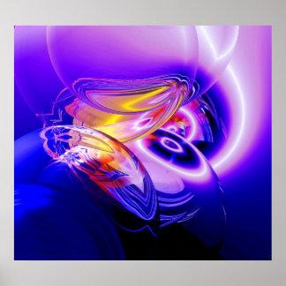 Posters abstractos azules del arte de Digitaces