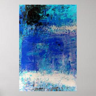Posters abstractos azules del Minimalist de la dec