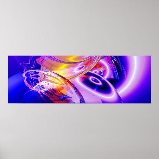 Posters abstractos azules panorámicos del arte de