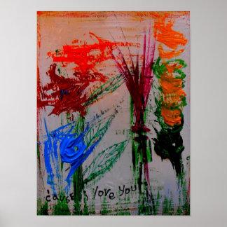 """posters abstractos de la """"causa te quiero"""""""