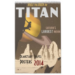 Posters actualizados 2014 del viaje espacial calendarios