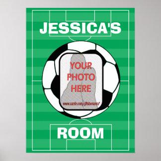 Posters adaptables del sitio de balón de fútbol de