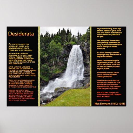 Posters anaranjados 13 de las cascadas de los DESI