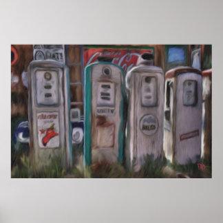 Posters antiguos de las bombas de gas