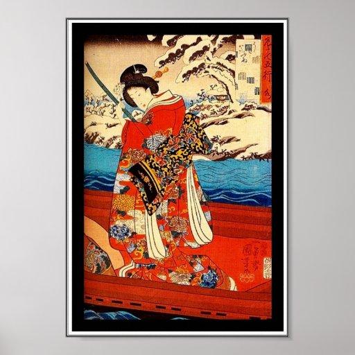 Posters Asian Vintage Art Utagawa Kuniyoshi, Japan Posters