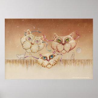 Posters, bella arte - camino del Tabby (gatos)
