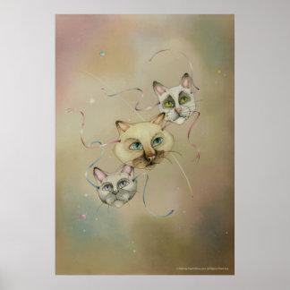 Posters, bella arte - máscaras del gato siamés