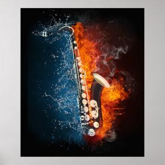 Posters calientes de la música de Smokin