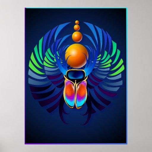 Posters calientes de la oscuridad del escarabajo