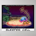 Posters cobrables divertidos del arte de la célula