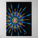 Posters coloridos de la pintura del mosaico de la
