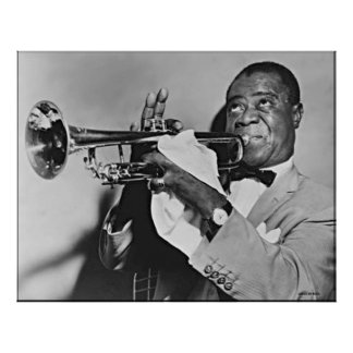 POSTERS COLOSALES - LOUIE ARMSTRONG - FOTOGRAFÍA PÓSTER