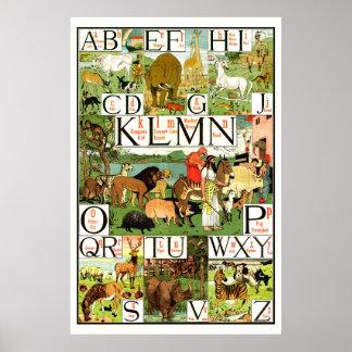 Posters de ABC del alfabeto de la arca de Noahs pa