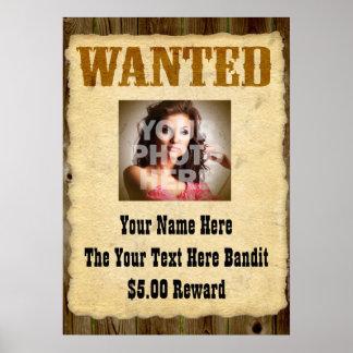 Posters de antaño queridos personalizados de la fo