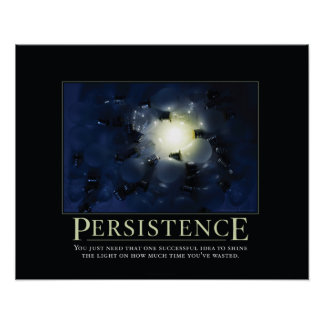 Posters de Demotivational de la persistencia Póster