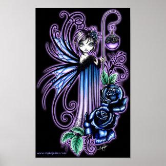 """Posters de hadas color de rosa azules góticos de """""""